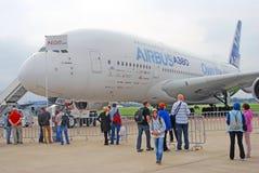 空中客车A380 免版税库存图片
