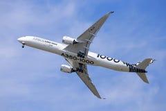 空中客车A350-1000 免版税库存图片