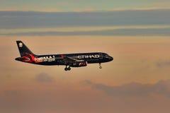 空中客车A320 Etihad 免版税图库摄影