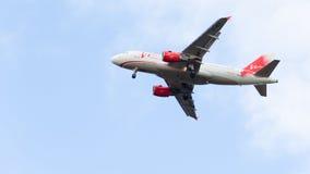 空中客车A319-111 VimAvia飞行 免版税图库摄影