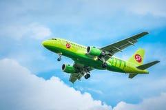 空中客车A319-114 VP-BTQ—西伯利亚航空公司 库存图片