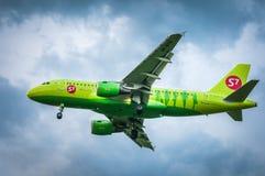 空中客车A319-114 VP-BTQ—西伯利亚航空公司 免版税库存图片