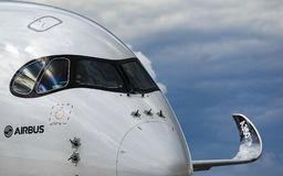 空中客车A350XWB 库存图片