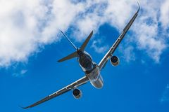 空中客车A350XWB 免版税库存照片
