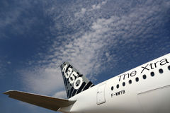 空中客车Industrie空中客车A350 F-WWYB在谢列梅国际机场 库存照片
