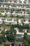空中家房子邻里住宅视图 免版税库存照片