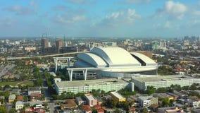 空中寄生虫录影迈阿密马林鱼棒球场体育体育场4k 股票视频