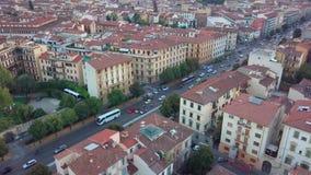空中寄生虫英尺长度录影-佛罗伦萨全景  股票录像