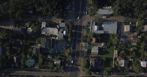 空中射击:美丽的小村庄或乡4k 4096 x 2160映象点 股票录像