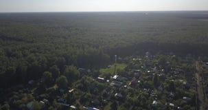 空中射击:美丽的小村庄或乡4k 4096 x 2160映象点 股票视频