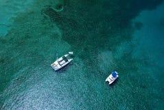 空中小船 库存照片