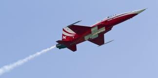 空中巡逻瑞士 库存图片