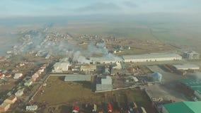空中工厂视图 影视素材