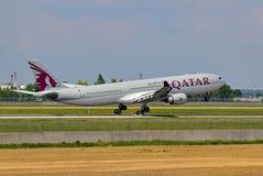a330空中巴士空中航线卡塔尔 图库摄影