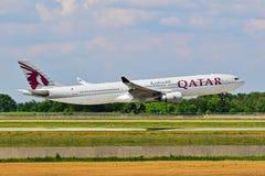 a330空中巴士空中航线卡塔尔 免版税库存照片