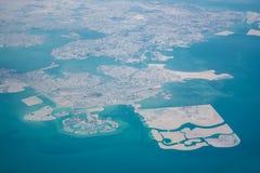 空中巴林视图 免版税库存照片