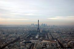 空中巴黎视图 图库摄影