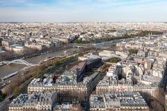 空中巴黎视图 库存照片
