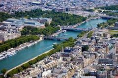 空中巴黎视图 免版税图库摄影
