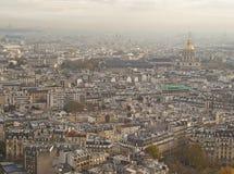 空中巴黎视图 库存图片