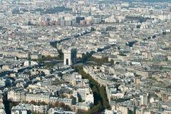 空中巴黎视图 免版税库存图片