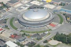 空中布加勒斯特视图 免版税库存图片