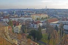 空中布拉格视图 免版税库存照片