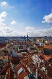 空中布拉格视图 库存图片