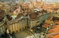 空中布拉格视图 库存照片