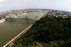 空中布达佩斯视图 库存照片