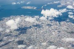 空中弗朗西斯科・圣查阅 免版税库存图片