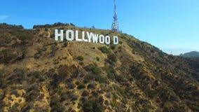 空中录影好莱坞标志 股票视频