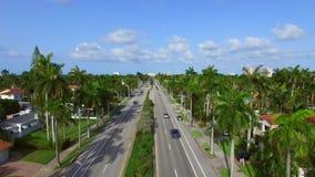 空中录影好莱坞海滩大道佛罗里达4 股票录像