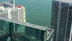 空中录影布里克尔迈阿密FL 股票视频