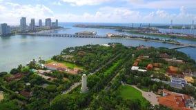 空中录影星海岛迈阿密海滩 影视素材