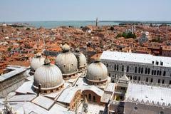 空中意大利威尼斯视图 库存图片