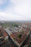 空中意大利托里诺视图 库存图片