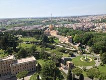 空中意大利的房子 图库摄影