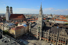 空中慕尼黑视图 库存图片