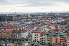 空中慕尼黑视图 免版税图库摄影