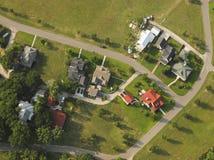 空中房子视图 免版税图库摄影