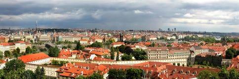 空中捷克布拉格共和国查阅 免版税库存图片