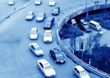 空中插孔天桥运输 免版税库存图片