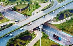 空中插孔天桥运输 图库摄影