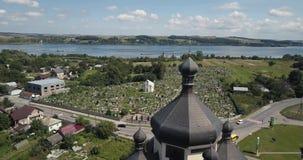 空中教会城市Burshtyn,乌克兰 影视素材