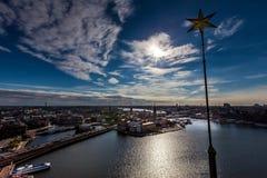 空中斯德哥尔摩视图 免版税库存图片