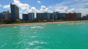 空中方法迈阿密海滩4k寄生虫 股票录像