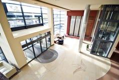 空中旅馆大厅视图 免版税库存图片