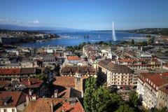 空中日内瓦瑞士 免版税库存照片