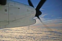 空中日出 库存照片